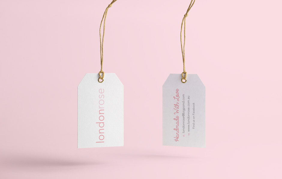 London Rose Swing Tag Mudgee Graphic Designer