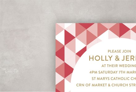 Holly Wedding Invitation Cropped