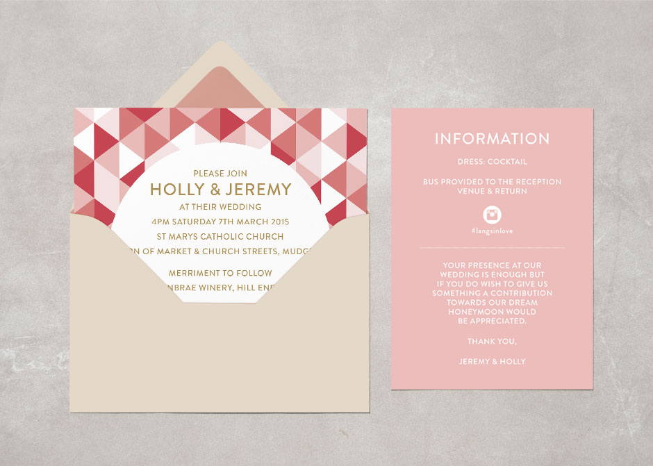 Wedding Invitation: Holly | Rainbow Trumpet