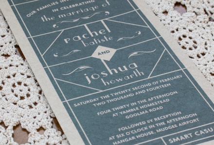 Rach Wedding Invitation
