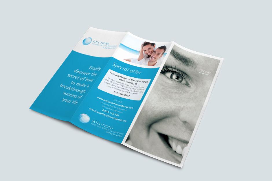 Solutions Branding Brochure Front Spread