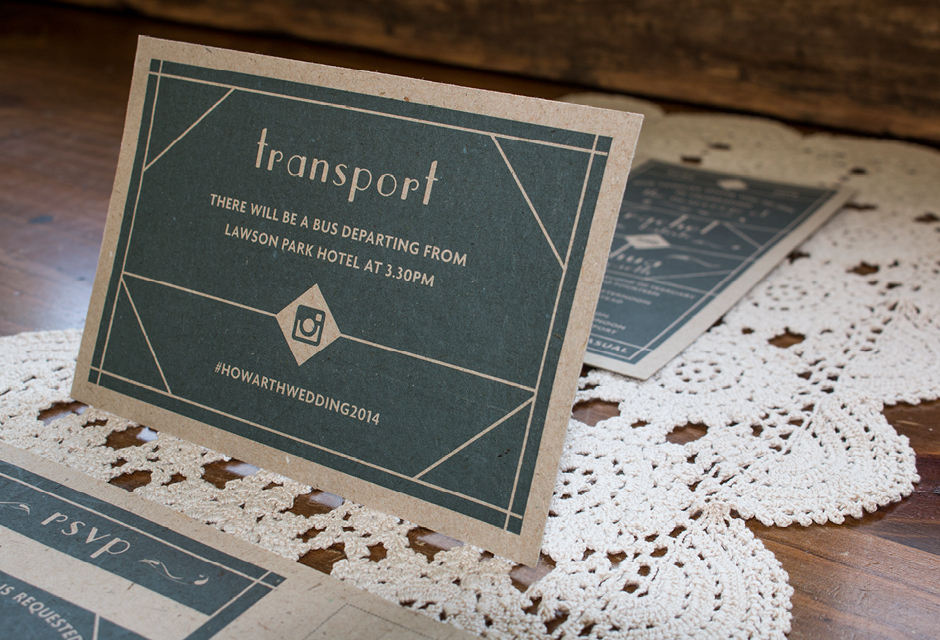 Rach Wedding Invitation - Transport