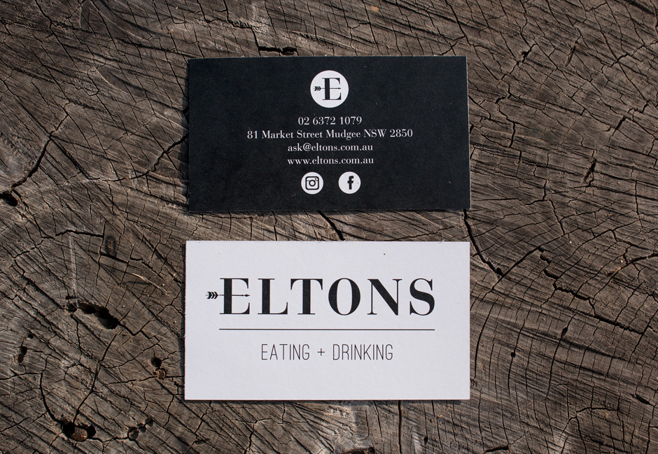 Eltons Business Cards Mudgee