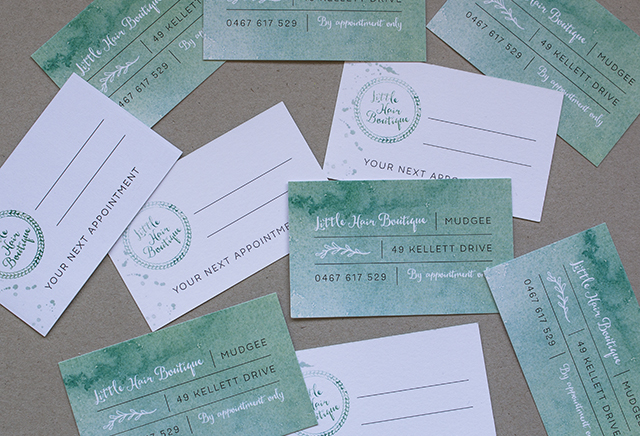 Little Hair Boutique Business Cards