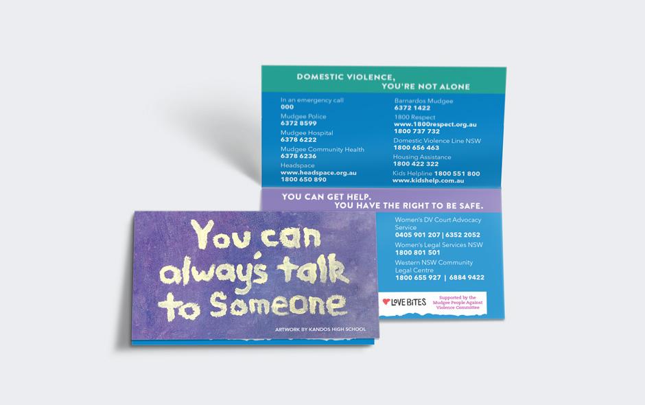 Domestic Violence Campaign Tent Card