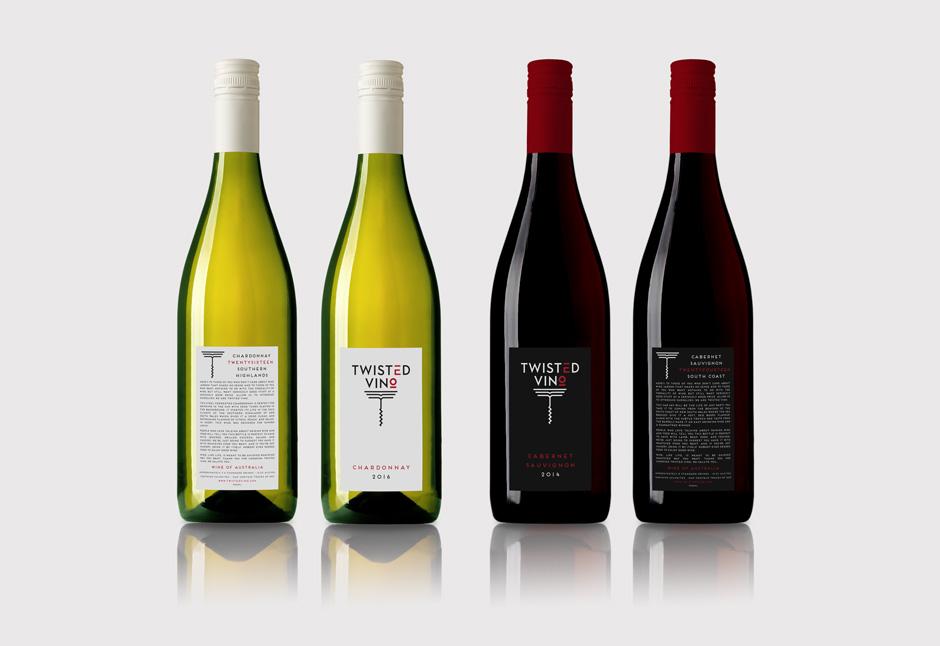 Twisted Vino Wine Bottles