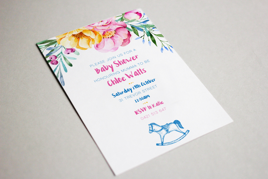Invitation Design Mudgee Baby Shower