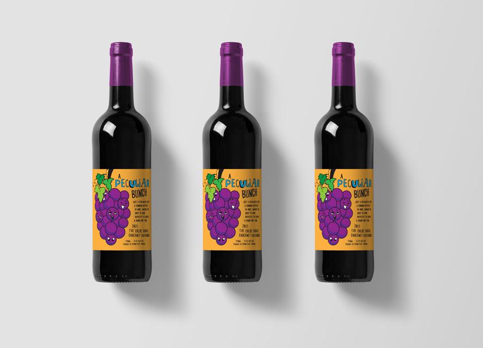 Mudgee Wine Label Design Pop Art Style Orange
