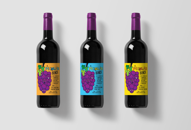 Mudgee Wine Label Design Pop Art Style