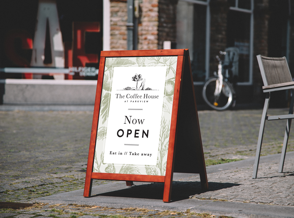 The Coffee House Mudgee A-Frame Signage Design