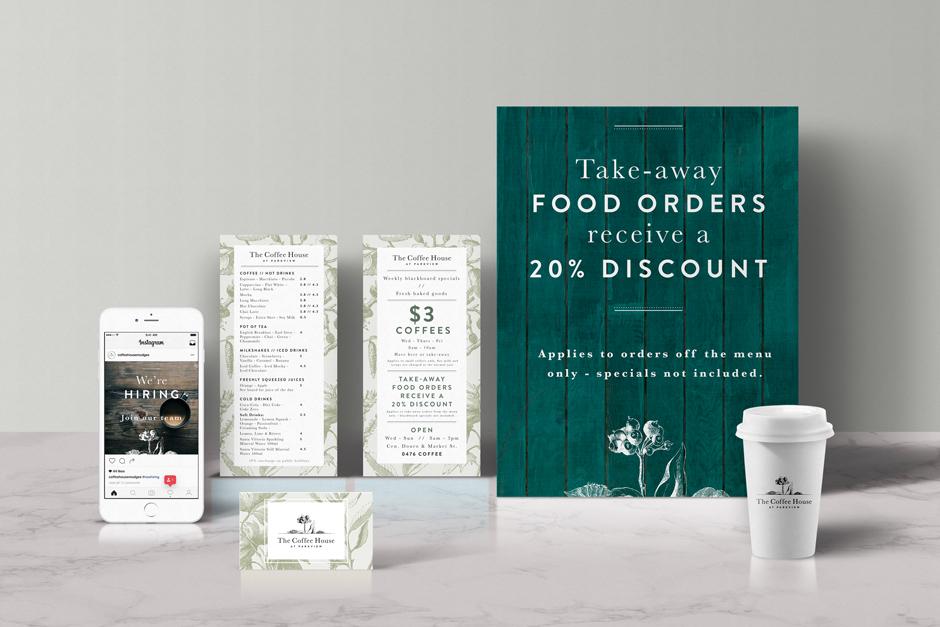 The Coffee House Mudgee Branding Design Set