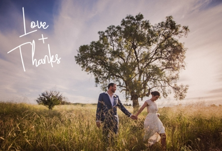 Mudgee Wedding Thank You Card Design