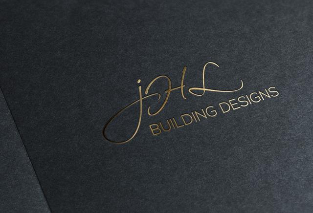 Mudgee Builder Modern Logo Design Gold Foil