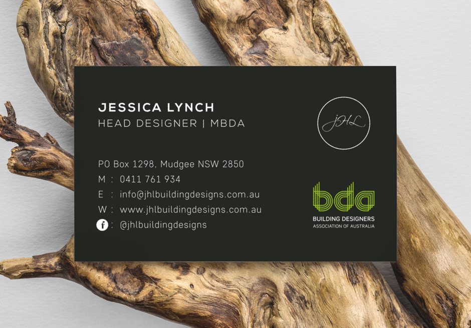 Mudgee Builder Modern Business Card Design Back