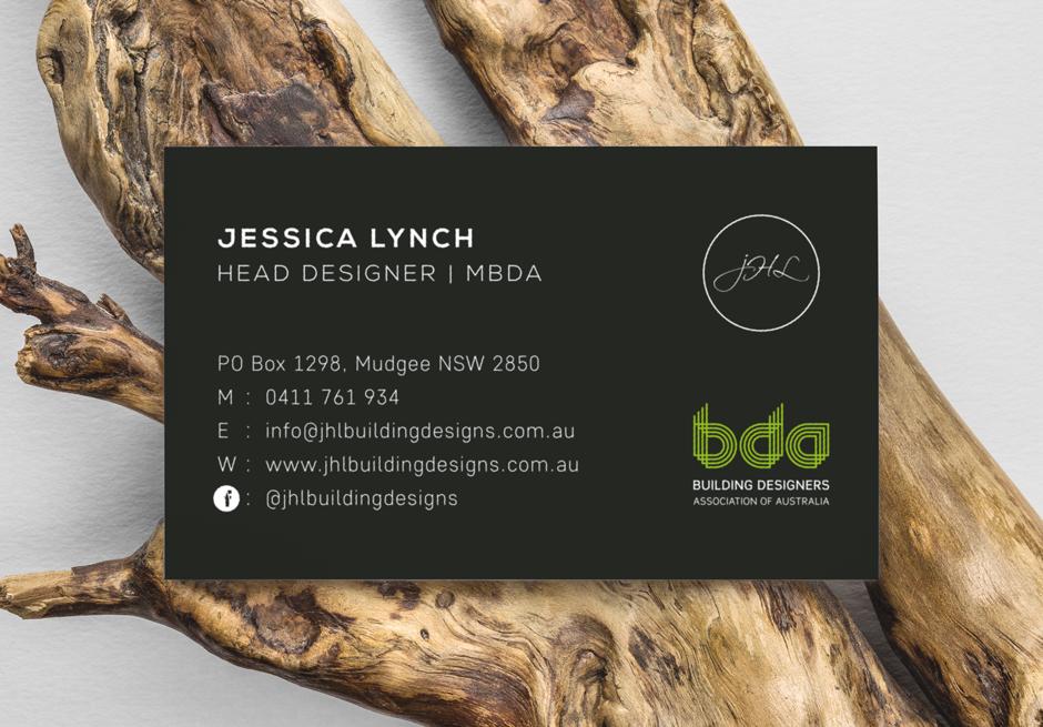 Mudgee Builder Modern Business Card Design Back