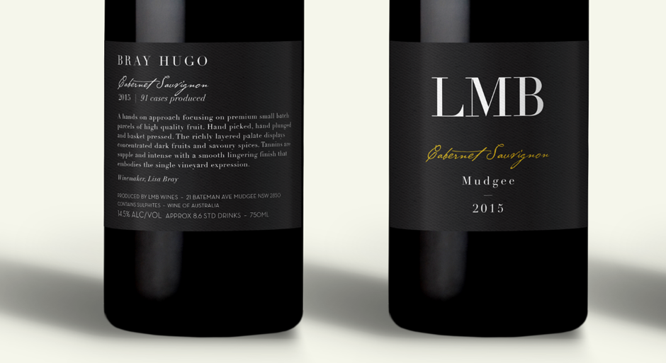 LMB Wines Mudgee Label Design Closeup Red Wine