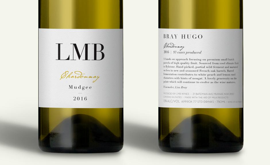 LMB Wines Mudgee Label Design Closeup White Wine