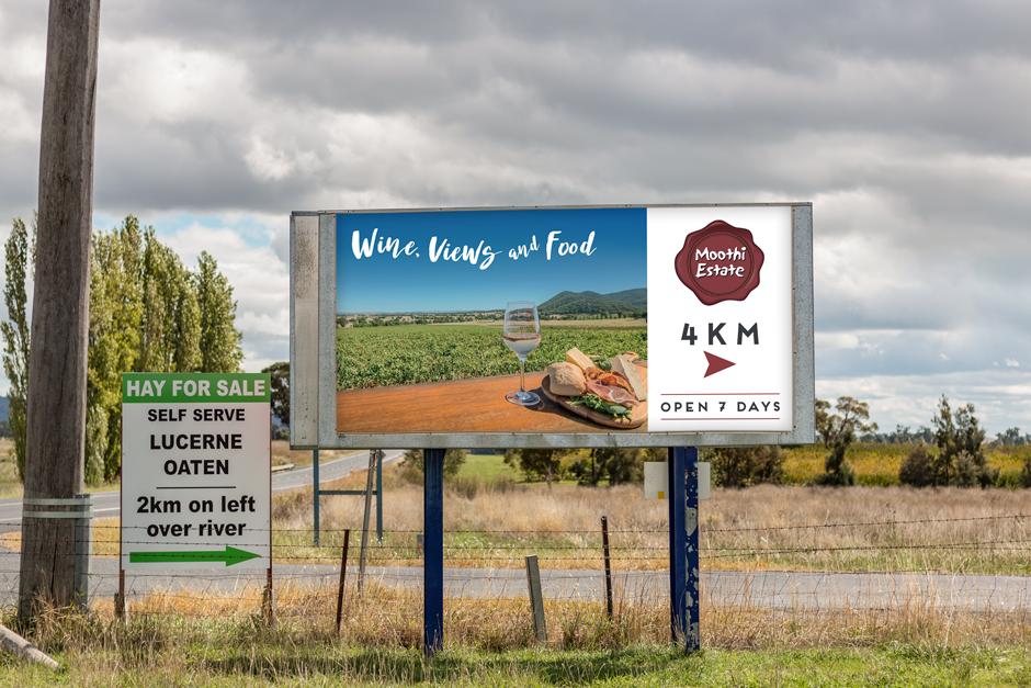Mudgee Winery Billboard Design
