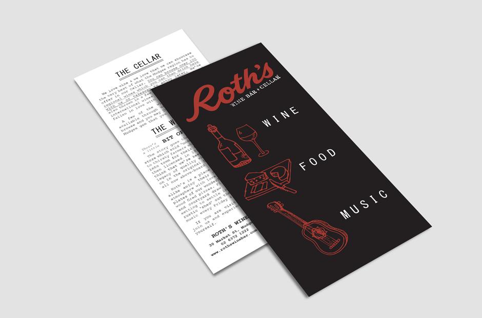 Wagga Graphic Designer Mudgee Roths Wine Bar Branding