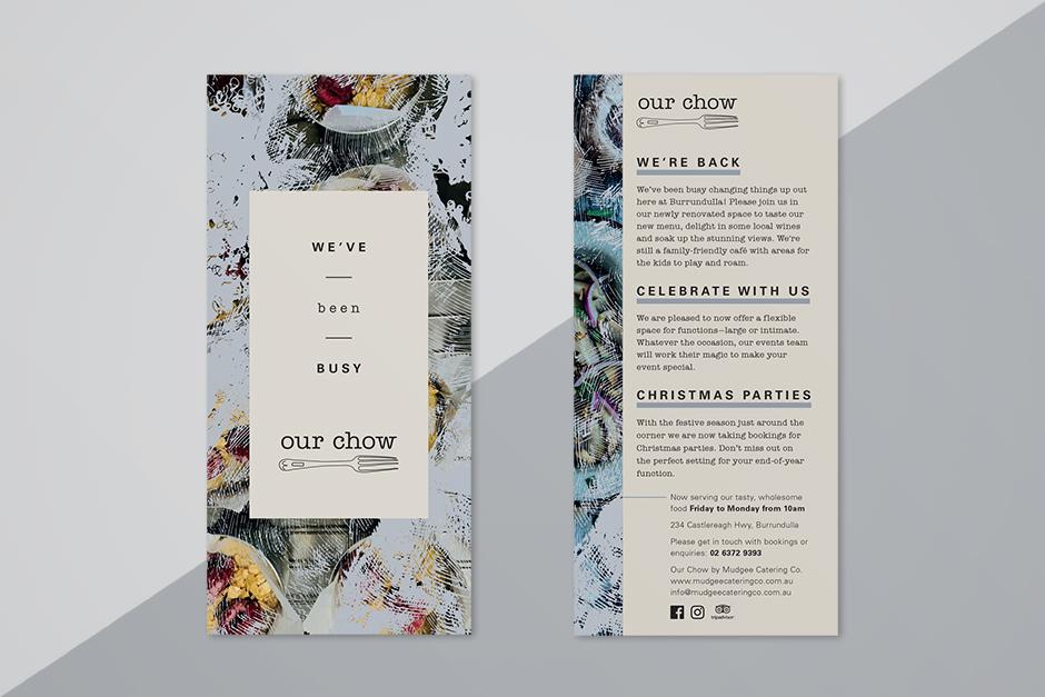 mudgee cafe flyer design