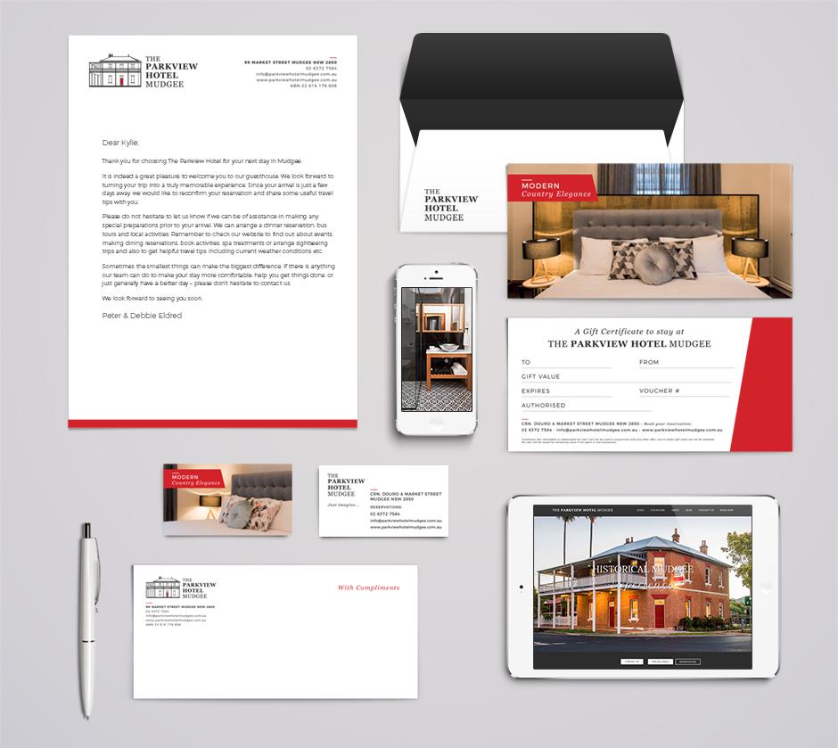Brand Design Mudgee Hotel