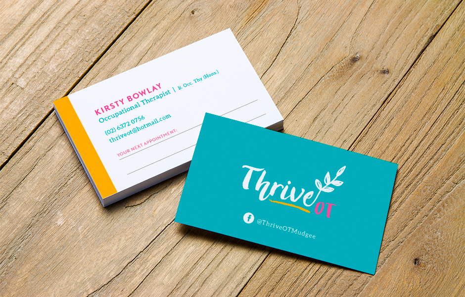 Mudgee Therapist Business Card Graphic Design