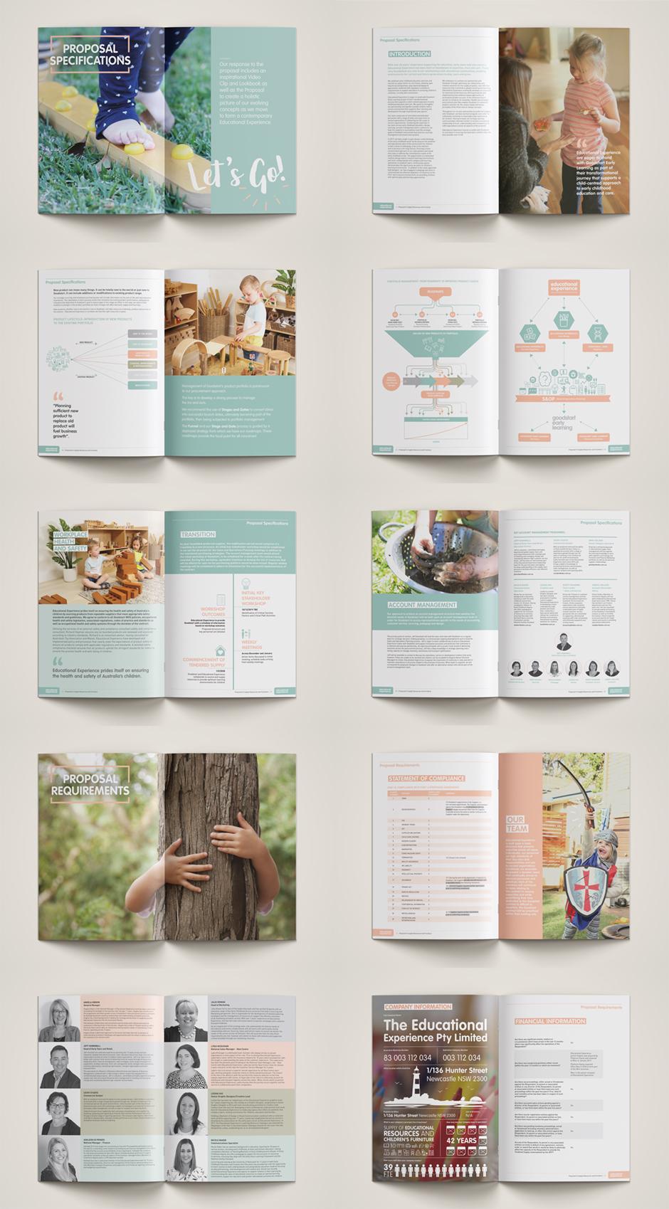 Tender Document Graphic Design